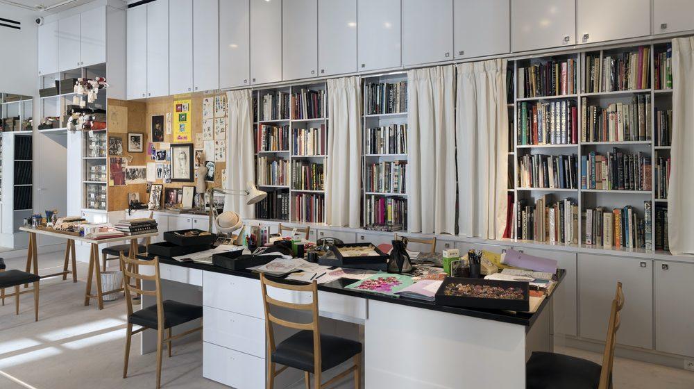 Studio de Travail au premier étage du musée Yves Saint LaurentMusée Yves Saint Laurent Paris : le Studio © Musée Yves Saint Laurent Paris / Luc Castel