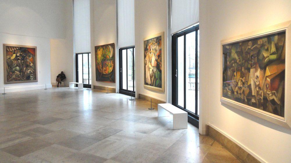 Musée d'art moderne de la Ville de Paris : une salle de la collection permanente.