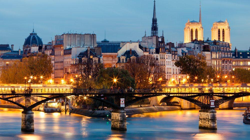 The Pont des Arts at night