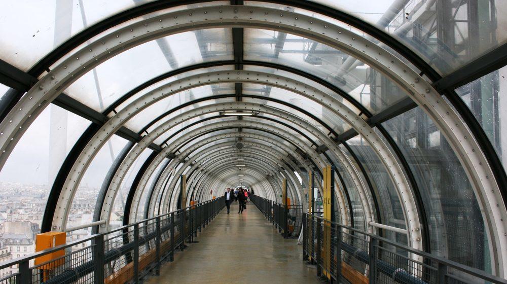 Centre Pompidou - Intérieur verre