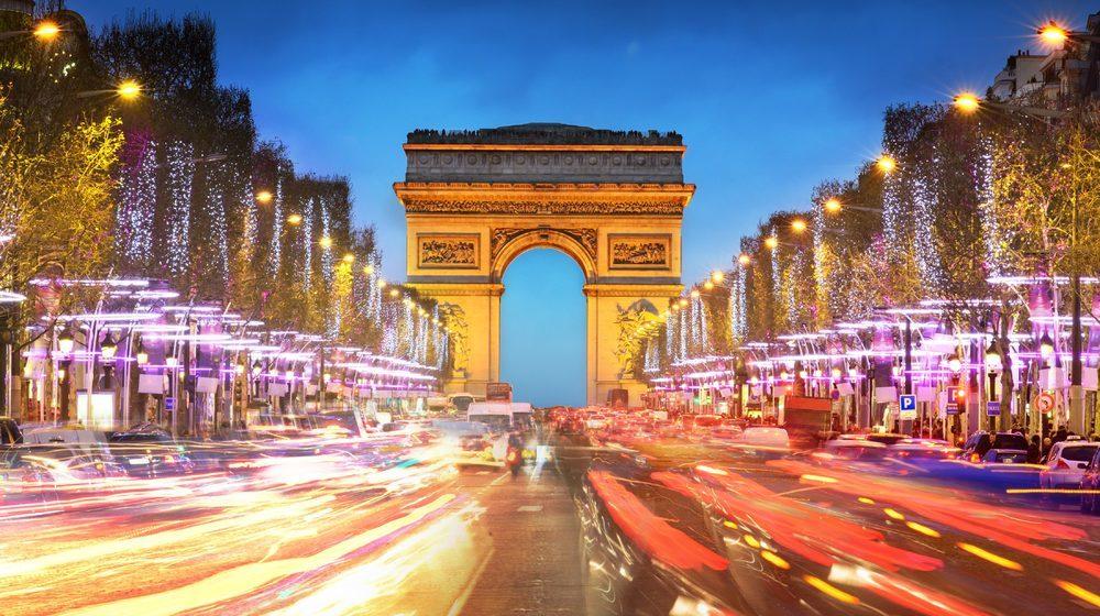 Arc de Triomphe - Champs Elysées nuit