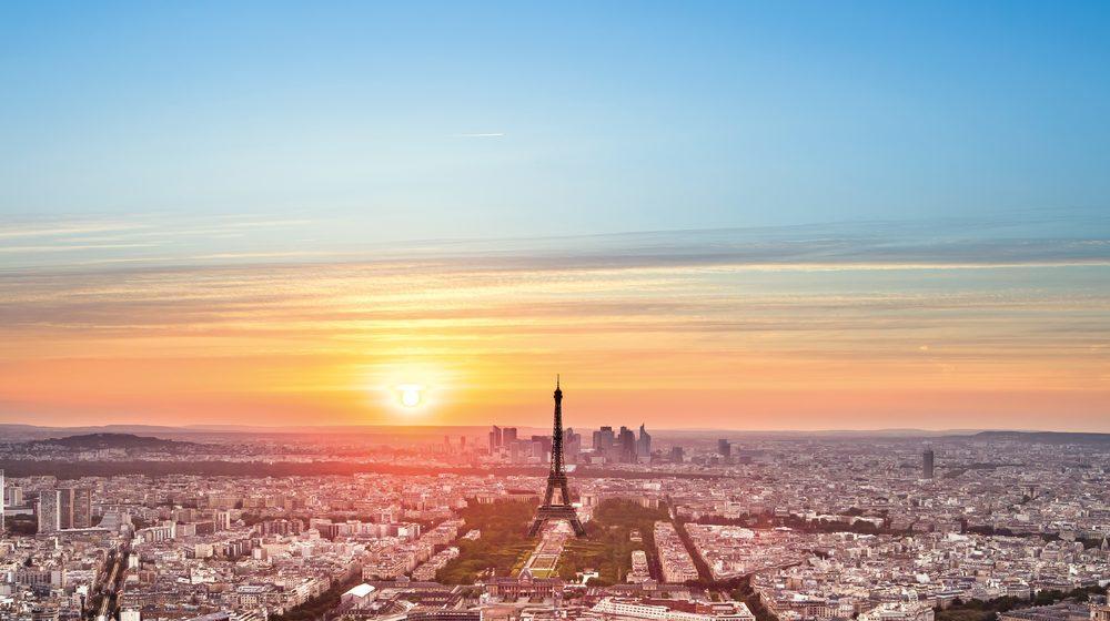 Tour Montparnasse - Coucher de soleil