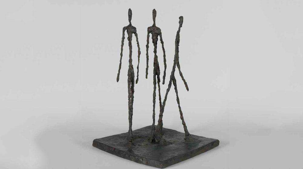Musée-Maillol-Exposition-Temporaire-Alberto-Giacometti,-Trois-hommes-qui-marchent  © Succession Alberto Giacometti (Fondation Giacometti, Paris + ADAGP, Paris) 2018