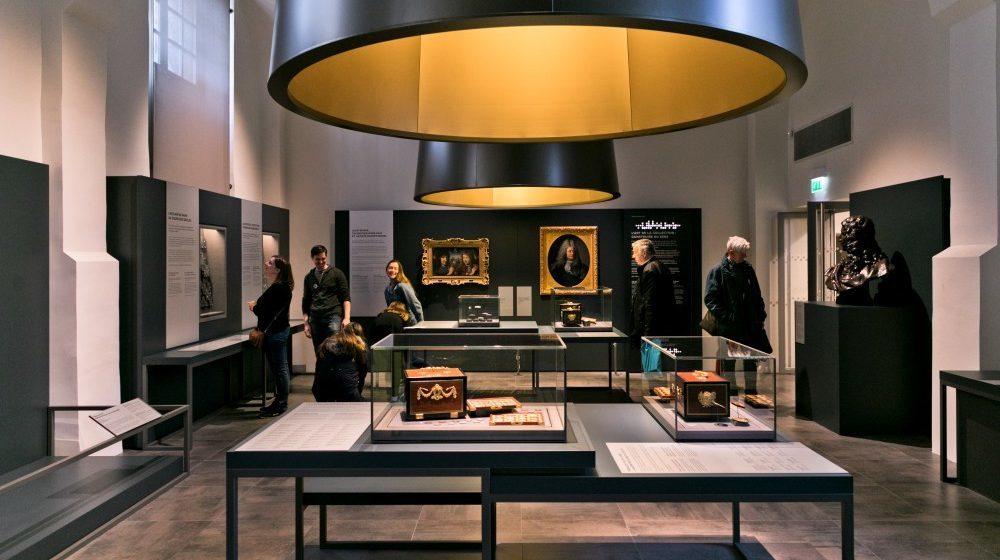 Salle d'exposition à la Monnaie de Paris