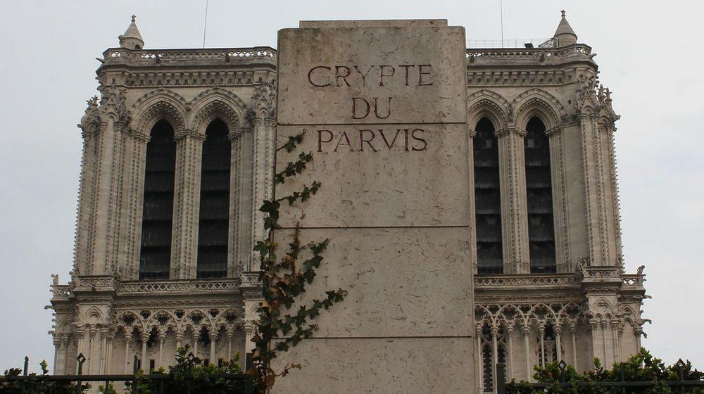La crypte archéologique de l'île de la cité sur le parvis de Notre Dame