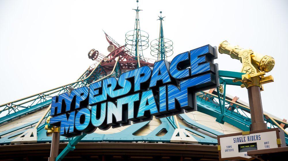 Star Wars Hyperspace Moutain  Au volant de votre vaisseau spatial, combattez l'Empire ©DISNEY