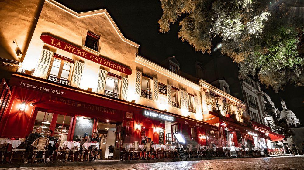 Restaurant La Mère Catherine sur la place du Tertre à Montmartre